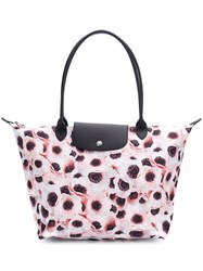 Longchamp Le Pliage Tote Pink And Purple