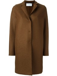 Harris Wharf London Snap Button Coat Brown