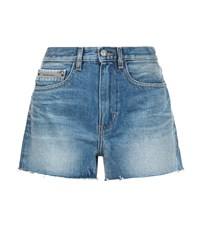 Calvin Klein Jeans Denim High Rise Shorts Blue