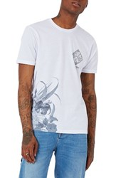 Topman Men's Above And Beyond Nyc Slim Fit Graphic T Shirt White Multi