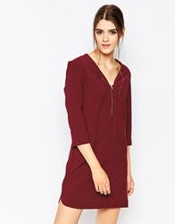 See U Soon Shift Dress With Zip Front Red