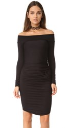 Riller And Fount Angelia Off Shoulder Dress Black French Terry