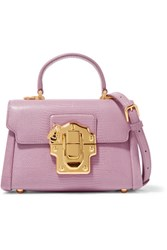Dolce And Gabbana Lucia Mini Lizard Effect Leather Shoulder Bag Pink