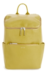 Matt And Nat 'Brave' Vegan Leather Backpack Citrus