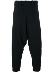 Issey Miyake Men Drop Crotch Trousers Black