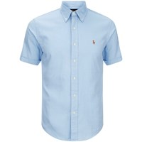 Polo Ralph Lauren Men's Short Sleeve Oxford Shirt Light Blue