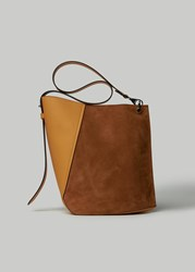 Lanvin Medium Suede Hook Bag In Honey Earth Honey Earth