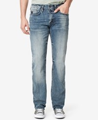 Buffalo David Bitton Men's Relaxed Straight Jeans Contrasted Blue