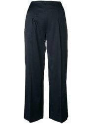Chalayan Cropped Trousers Blue