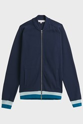 Orlebar Brown Thorpe Cotton Blend Jacket Navy