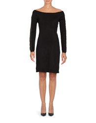 Cynthia Steffe Off The Shoulder Long Sleeved Dress Rich Black