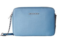 Michael Michael Kors Jet Set Travel Lg Ew Crossbody Sky Cross Body Handbags Blue