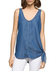 Ck Calvin Klein V Neck Tie Up Tank Top Marsha