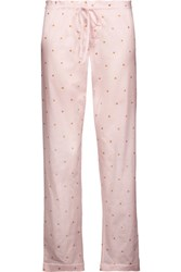 Bodas Metallic Printed Cotton Jersey Pajama Pants Pastel Pink