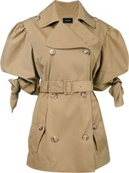 Simone Rocha Belted Trench Coat Brown