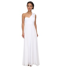 Alejandra Sky Danielle One Shoulder Gown White Women's Dress
