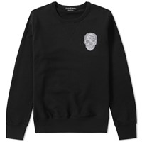 Alexander Mcqueen Embroidered Skull Crew Sweat Black