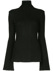 Ellery Turtle Neck Knitted Top Black