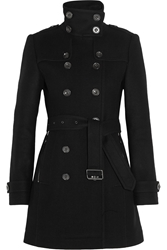 Burberry Double Breasted Wool Blend Felt Coat