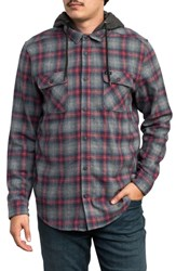 Rvca Good Hombre Shirt Jacket Grey Noise