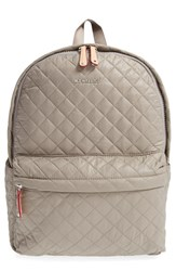 M Z Wallace Mz Wallace 'Metro' Quilted Oxford Nylon Backpack Grey Taupe