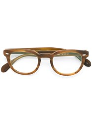 Oliver Peoples 'Sheldrake' Glasses Brown