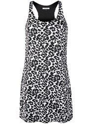 Fisico Leopard Print Beach Dress Black