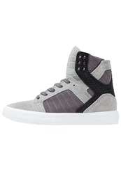 Supra Skytop Hightop Trainers Grey Gradient White