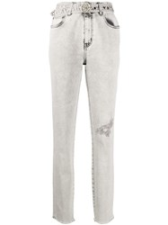 Just Cavalli Distressed Belted Jeans 60