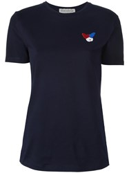 Etre Cecile Embroidered Logo T Shirt Blue