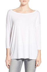 Women's Bailey 44 'Sarah' Boatneck Stretch Jersey Tee White