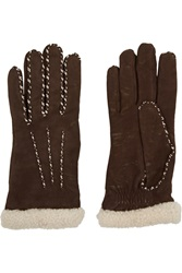 Agnelle Cashmere Lined Leather Gloves