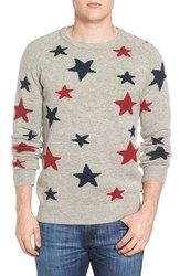 Scotch And Soda Men's Star Intarsia Wool Blend Sweater