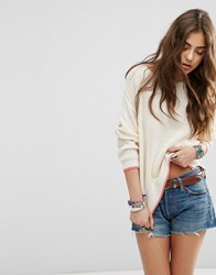 Asos Ultimate Chunky Jumper With Tipping Cream