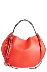Loewe Fortune Leather Hobo Red Primary Red
