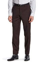 Ted Baker Jarret Burgundy Pin Dot Suit Separates Wool Trouser Red