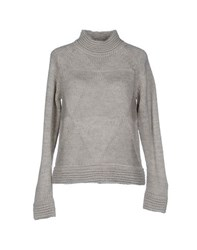 Only Knitwear Turtlenecks Women Light Grey