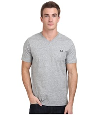Fred Perry V Neck T Shirt Vintage Steel Marl Men's T Shirt Gray