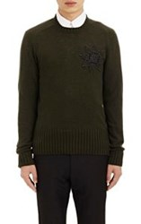 Alexander Mcqueen Embellished Sweater Green