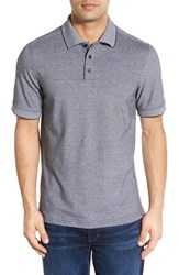 Nordstrom Men's Men's Shop 'Classic' Regular Fit Short Sleeve Oxford Pique Polo Black Jet