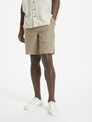 John Lewis And Co. Linen Shorts Stone