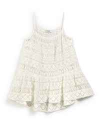 Milly Minis Crochet High Low Coverup White
