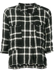Transit Checked Shirt Black
