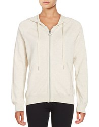 Bench Zip Front Hoodie White