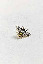 Urban Outfitters Beholder Bee Kind Pin White