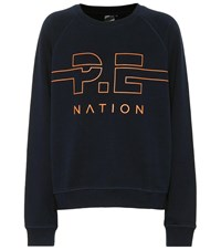 P.E Nation Swingman Cotton Sweatshirt Blue