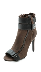 Dolce Vita Harbor Open Toe Booties Steel