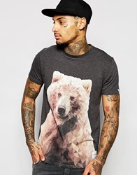 Supreme Being Supremebeing T Shirt With Bear Print Charcoalheather