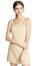 Lost Wander Mimosa Ruffle Dress Mustard White