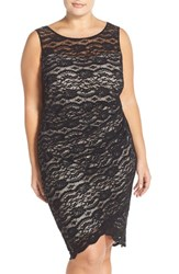 Plus Size Women's Sangria Sleeveless Lace Sheath Dress